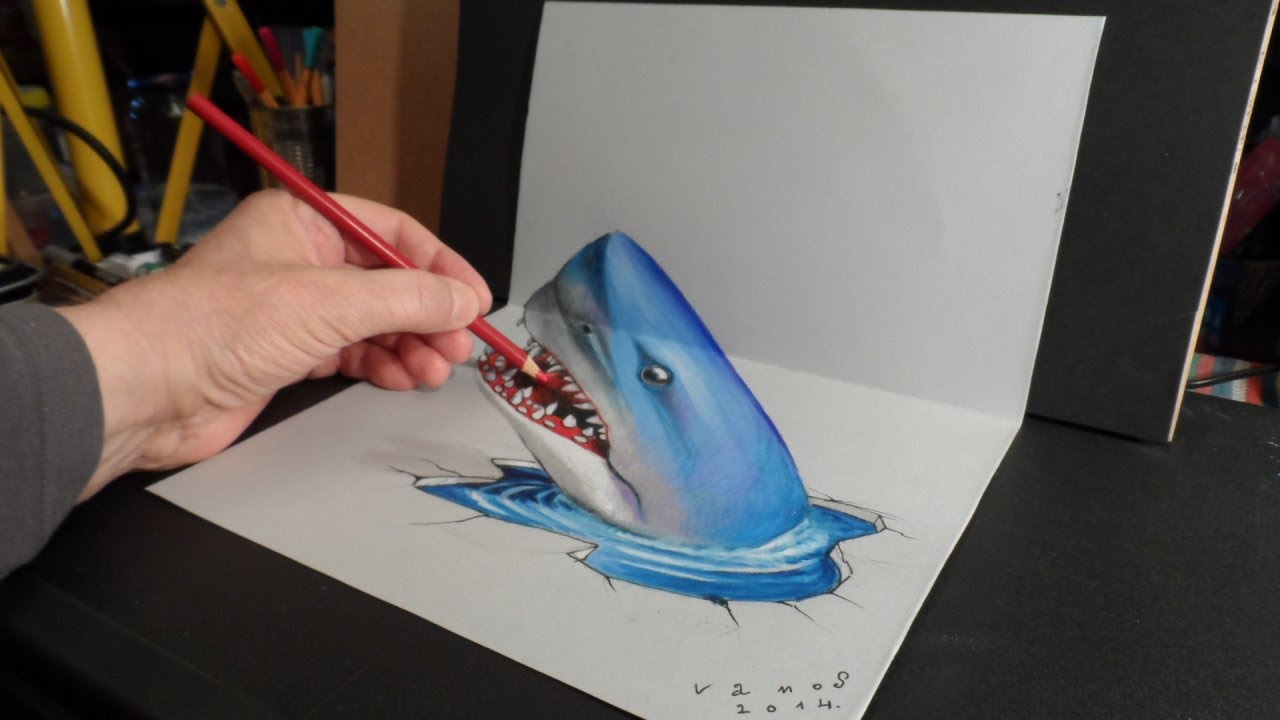 3D Art Shark Time Lapse