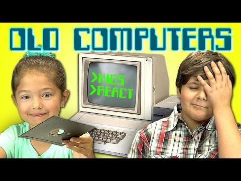Kids + Old Computers = Too Cute