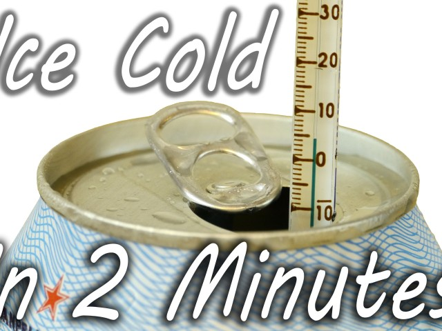 Cool a Drink in 2 Minutes
